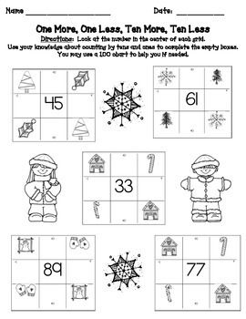 1st Grade Add and Subtract 10 from a 2-digit Number: Common Core Activities