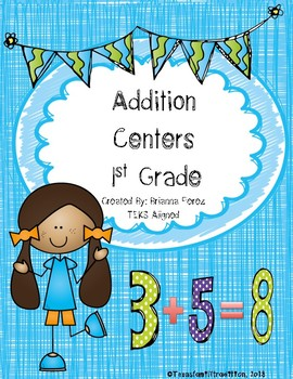 Addition Centers for 1st Grade