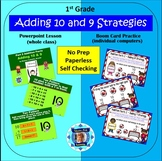 1st Grade Addition Facts 2 Adding 9 & 10 (Powerpoint Lesso