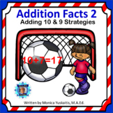 1st Grade Addition Facts 2 - Adding 9 and 10 Boom Cards