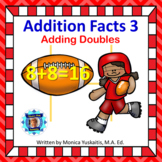 1st Grade Addition Facts 3 - Adding Doubles Boom Cards