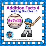 1st Grade Addition Facts 4 - Adding Doubles + 1 Boom Cards