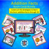 1st Grade Addition Facts Boom Card Bundle - 6 Decks - 120 Cards