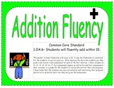 1st Grade Addition Fluency Practice
