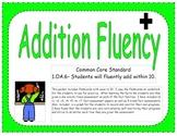 1st Grade Addition Fluency Practice