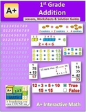 1st Grade Addition Lessons, Worksheets, Solution Manuals