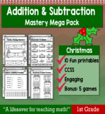"""1st Grade Addition & Subtraction """"Mastery Pack"""" for December"""