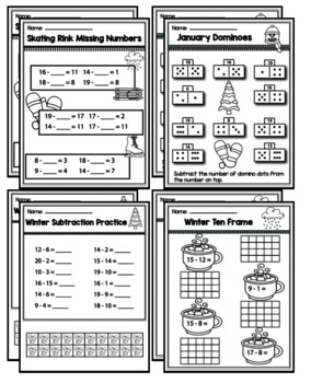 """1st Grade Addition & Subtraction """"Mastery Pack"""" for January"""