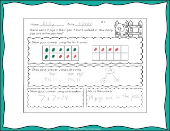 Addition Word Problems With Unknowns In All Positions