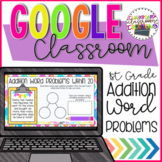 1st Grade Addition Word Problems for Google Classroom