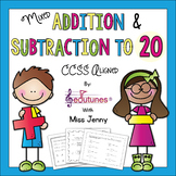 Mixed Addition and Subtraction to 20 Practice Pages | Use for Distance Learning