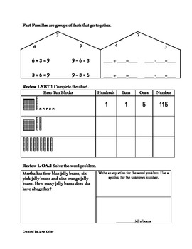 1st Grade Addition and Subtraction Strategies Worksheets 1.OA.3