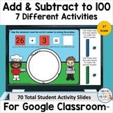 1st Grade Addition and Subtraction to 100 Digital Slides D