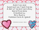 1st Grade Addition/Subtracton Valentine's Day Word Problems