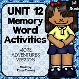 1st Grade More Adventures of the Superkids Memory Word Activities {Unit 12}