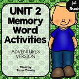1st Grade Adventures of the Superkids Memory Word Activiti