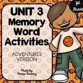 1st Grade Adventures of the Superkids Memory Word Activities {Unit 3}