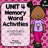 1st Grade Adventures of the Superkids Memory Word Activities {Unit 4}