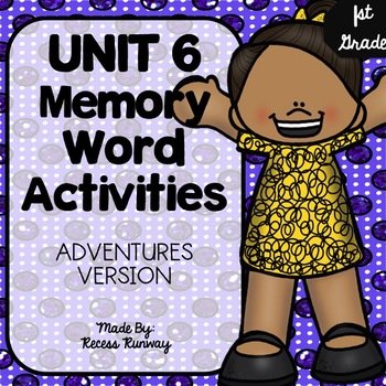 1st Grade Adventures of the Superkids Memory Word Activities {Unit 6}