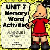 1st Grade Adventures of the Superkids Memory Word Activiti