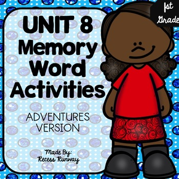 1st Grade Adventures of the Superkids Memory Word Activities {Unit 8}