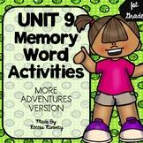1st Grade More Adventures of the Superkids Memory Word Activities {Unit 9}