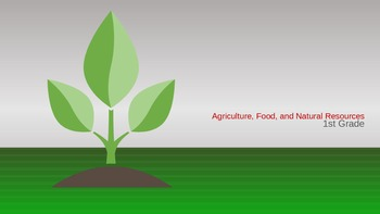 1st Grade - Agriculture, Food, and Natural Resources Career Cluster PPT