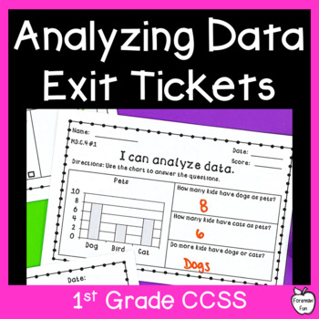 Data Exit Ticket Assessments ~ Bar Graphs & Tally Charts ~ 1st Grade Common Core