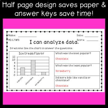 original 2900242 4 data exit ticket assessments ~ bar graphs & tally charts ~ 1st grade