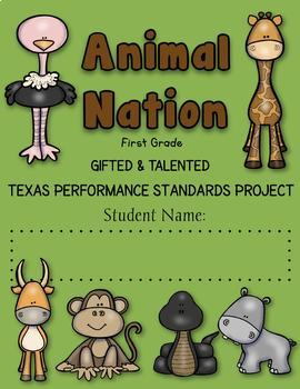 1st Grade Animal Nation Texas Standards Performance Project based Curriculum