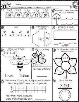 1st Grade April Math Journal