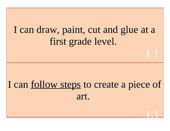 1st Grade Art I Can Statements