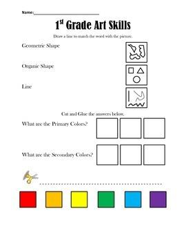 1st Grade Art Skills Test