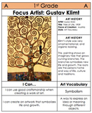 1st Grade Art Table Centers by Medium with SUB PLANS