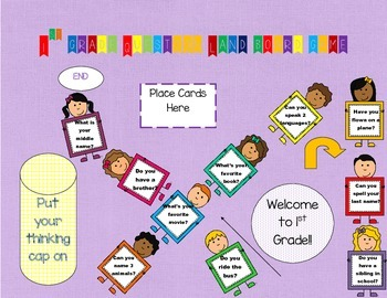 1st Grade Question Land Board Game Getting to Know You