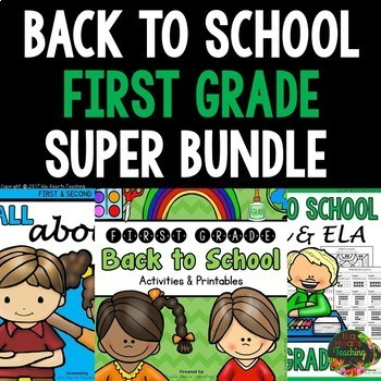 1st Grade Back to School Activities: First Week of School Activities First Grade