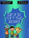 1st Grade Back to School Assessment Pack