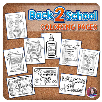 1st Grade Back to School Coloring Pages