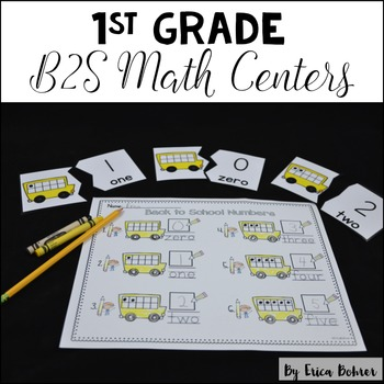1st Grade Back to School Math Centers