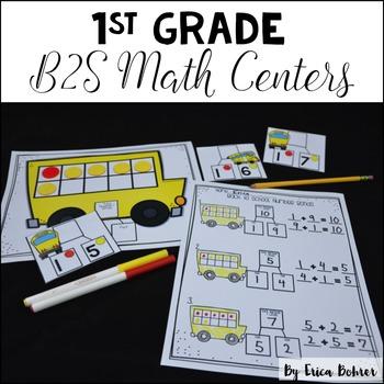 1st Grade Back to School Math Centers