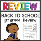 First Grade Back to School Review Activities