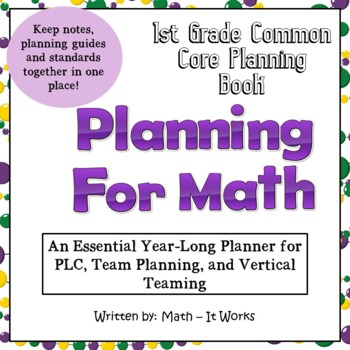 1st Grade Teacher Binder Common Core Math Planner