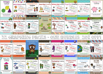 1st Grade Bar Graph BUNDLE! {32 CCSS Aligned & Differentiated Sets Included!}