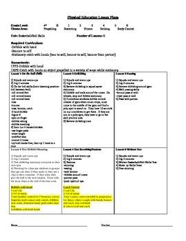 1st Grade Basketball/Ball Skills Unit