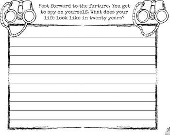 1st Grade Beginning of the Year Writing Activities {Spy Theme & Editable}