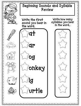 1st Grade Beginning of the Year Reading Review (And CVC Word Work)