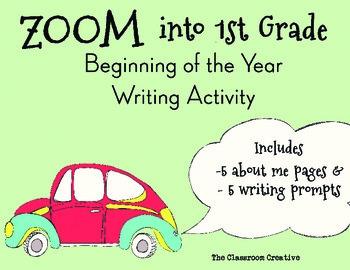 1st Grade Beginning of the Year Writing Activity