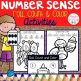 Back To School Count and Color Math Activities