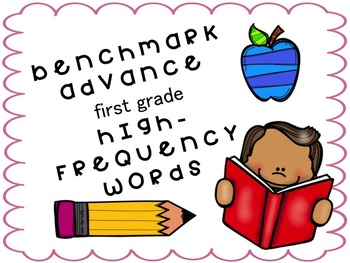 1st Grade Benchmark Advance High-Frequency Word Cards (Units 1-10)