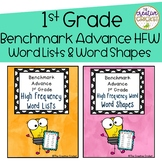 1st Grade Benchmark Advance High Frequency Word Lists and